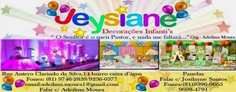 JEYSIANE DECORACÕES INFANT'S