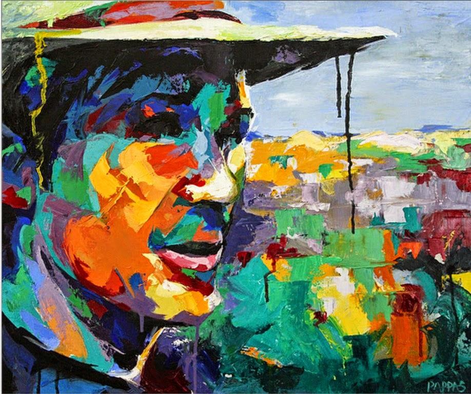 Pintura moderna y fotograf a art stica rostros for Imagenes de cuadros abstractos para colorear