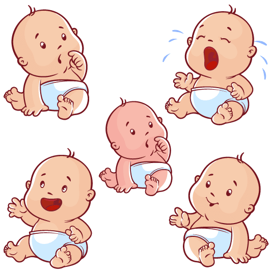 Simple bebé cartoon - vector | Vector Clipart