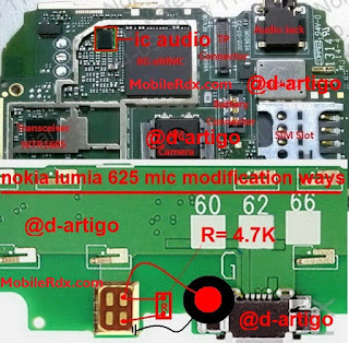 Nokia Lumia 625 Mic Problem Solution Full Jumpers