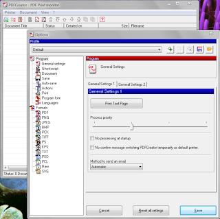 PDFCreator settings screen shot