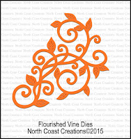 NCC Custom Flourished Vine Die