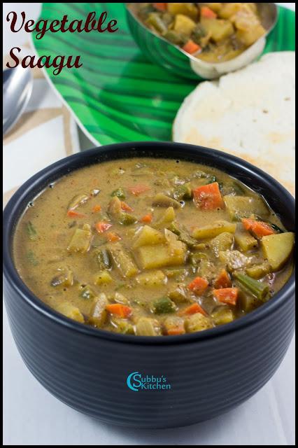 Mixed Vegetable Sagu Recipe | Saagu Recipe