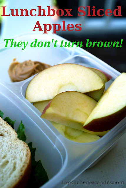 Lunchbox Sliced apples so they don't turn brown