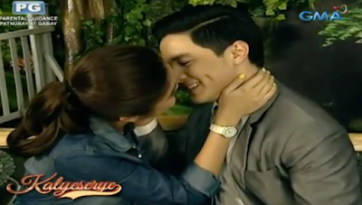 Yaya and Alden on their kilig pa more moment