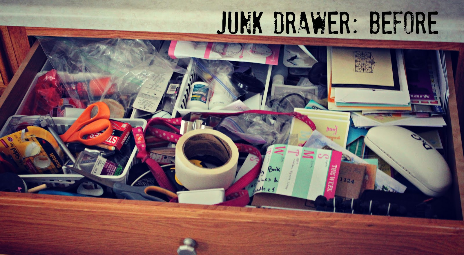 Organizing our home the junk drawer house by hoff for Kitchen junk drawer