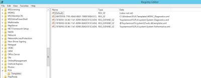 HKLM\SOFTWARE\MicrosoftPLA\Templates