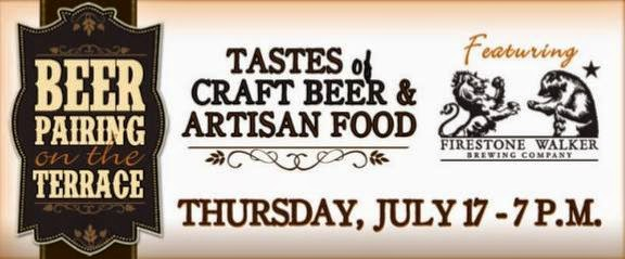 Beer Pairing on the Terrace - Thurs July 17