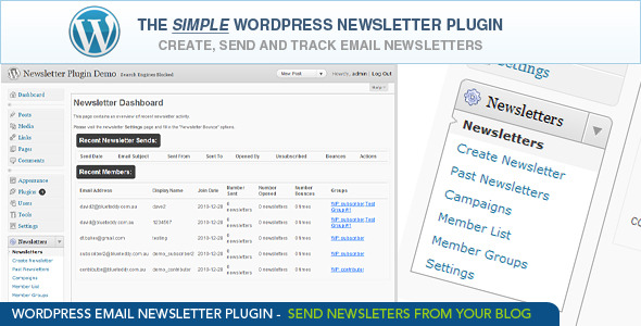 CodeCanyon - WordPress Email Newsletter Plugin