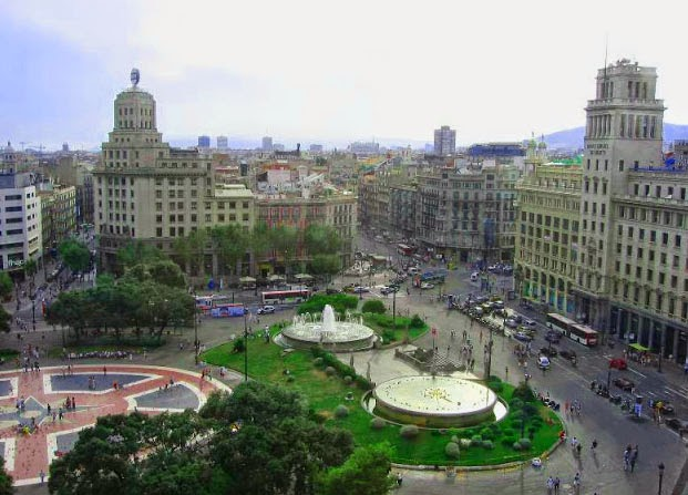 Viajar a barcelona diez miradores de barcelona - El corte ingles plaza cataluna barcelona ...