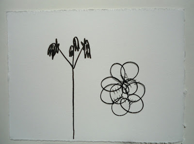 jewelry for your wall, paper, wire, felt pen