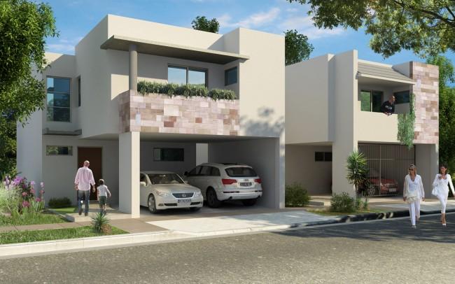 Fachadas de casas modernas abril 2013 for Fachadas de casas minimalistas con balcon