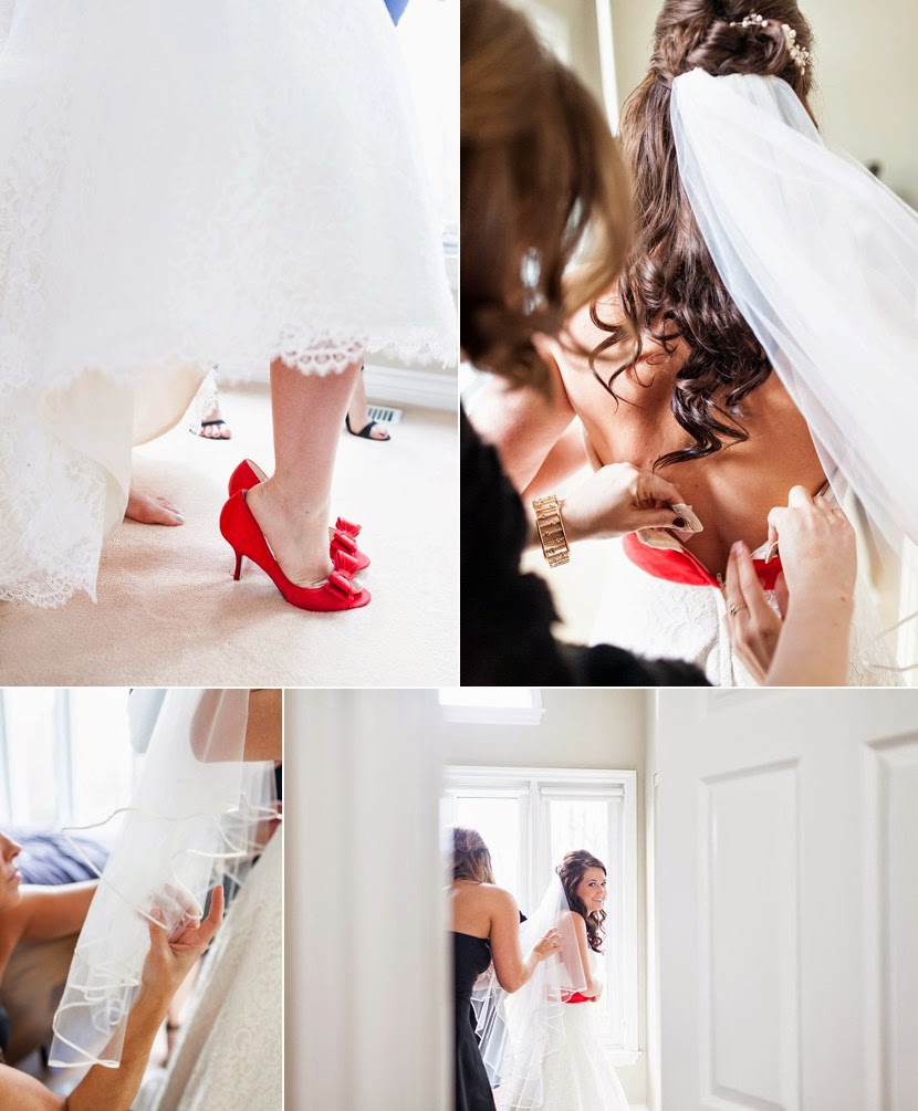 red sash on brides dress photo
