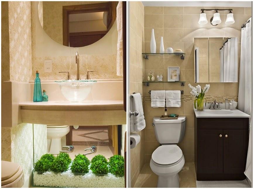 Adimóveis Adimóveis Decor Ideias para banheiros pequenos -> Decoracao Em Banheiro Pequeno