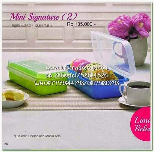 Tupperware Promo April 2015 Mini Signature