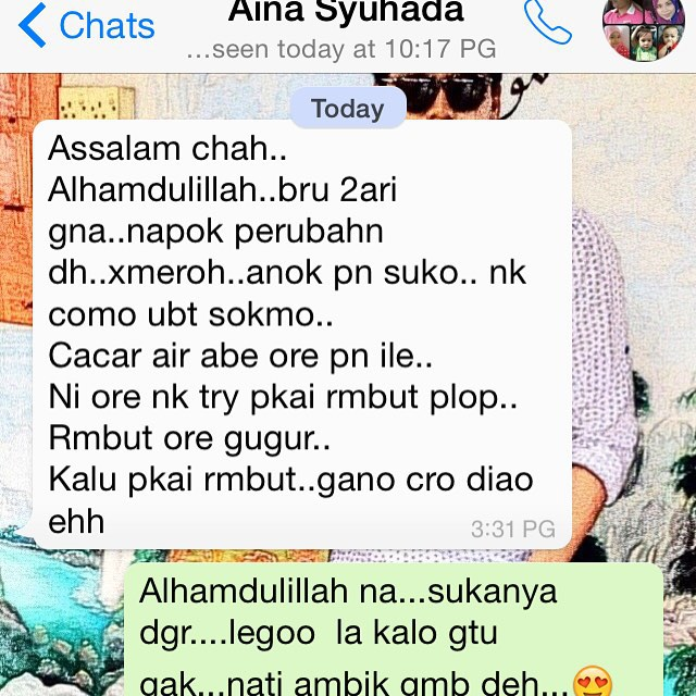 testimoni Advance Perfect Serum Argan Oil