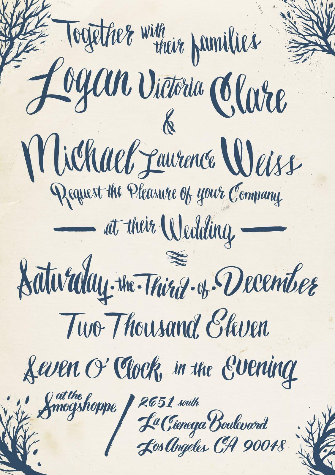 free handwriting fonts for diy wedding invitations handwritten wedding invitations 18 Free Handwriting Fonts for Your DIY Wedding Invitations