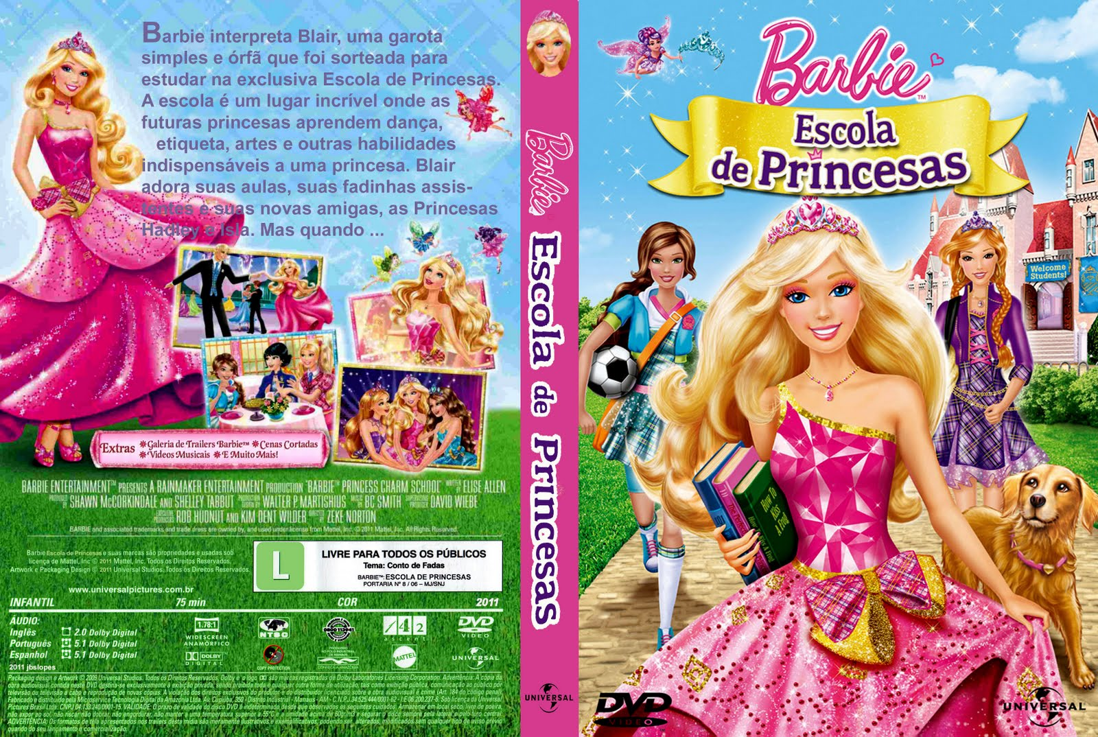 Download Barbie Escola De Princesas AVI Dublado TORRENT