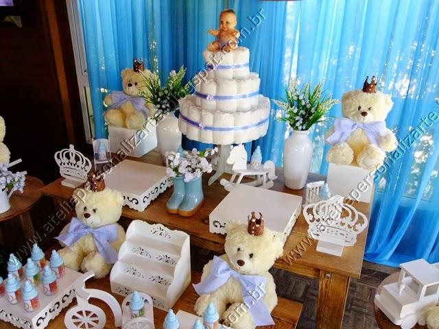 decoração chá bebê ursinhos provencal