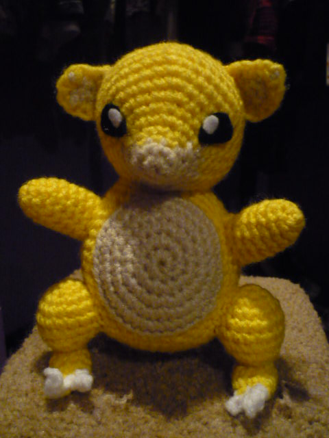 Tiffany Can Crochet Sandshrew Pattern