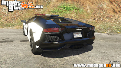 V - Lamborghini Aventador LP700-4 Police para GTA V PC