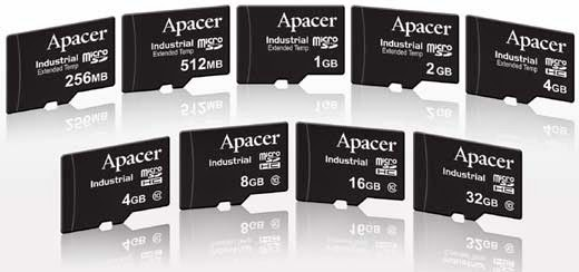 Apacer Industrial Micro SD and Micro SDHC