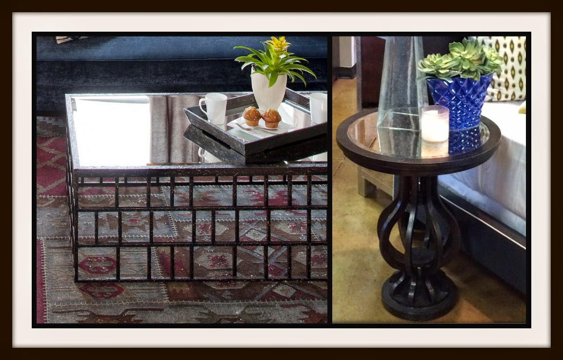 The Richmond metal coffee table and Richmond end table at I.O. Metro