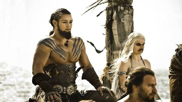 khal y khaleesi caras cambiadas - Juego de Tronos en los siete reinos
