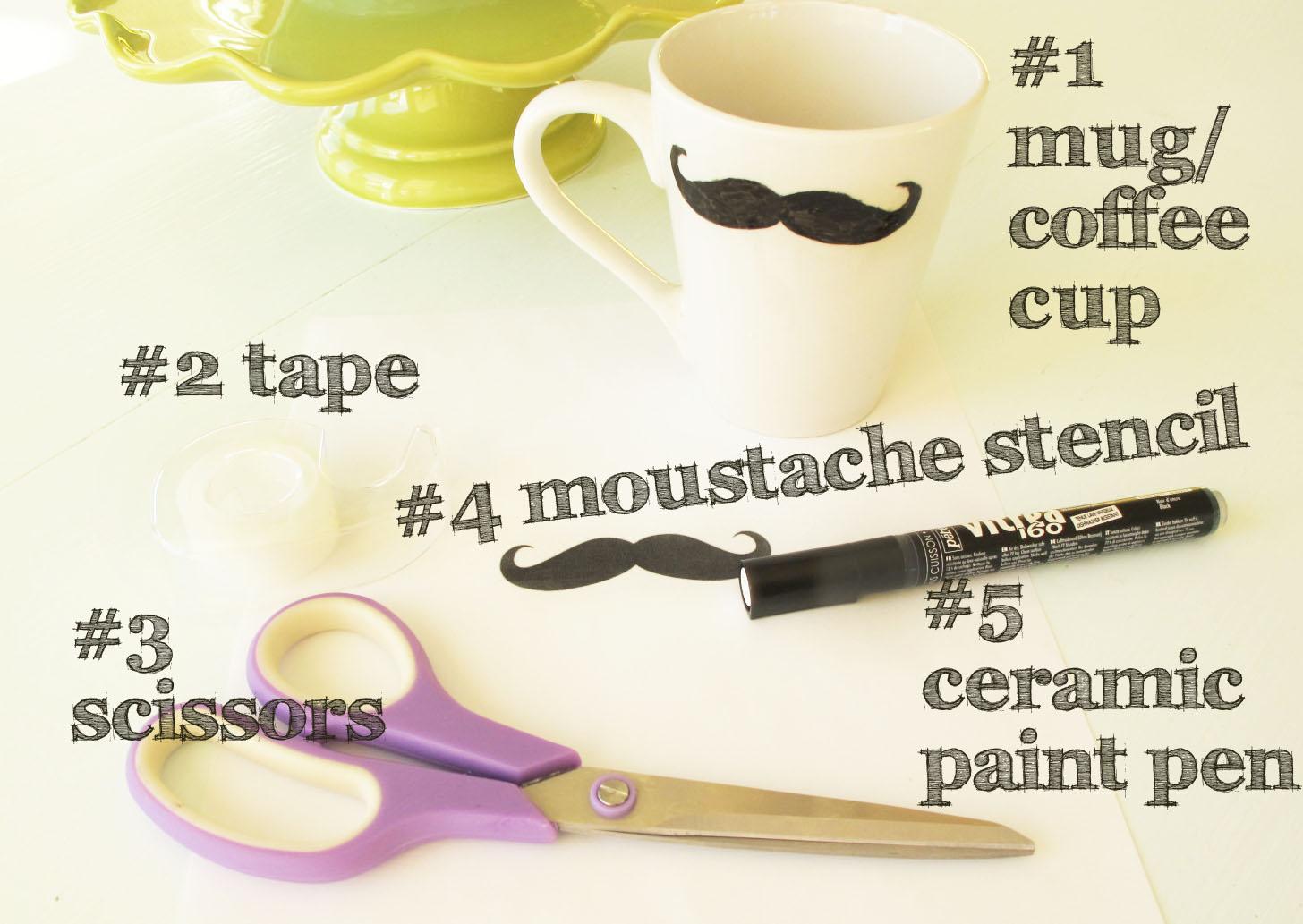 DIY GIFT IDEA moustache mug kandeej.com Last Minute Osterspecial | DIY Ostergeschenke zum Selbermachen