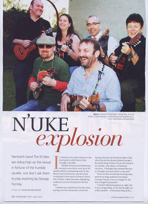 N'Ukes in Cheshire Life page 1