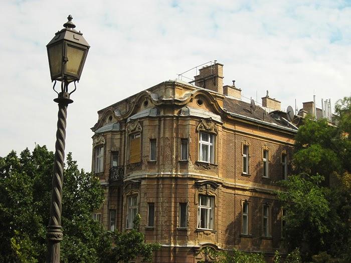 Budapest Boedapest lantaarnpaal street lighting building