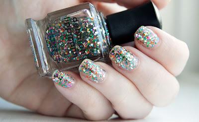 fotos unhas decoradas com Glitter