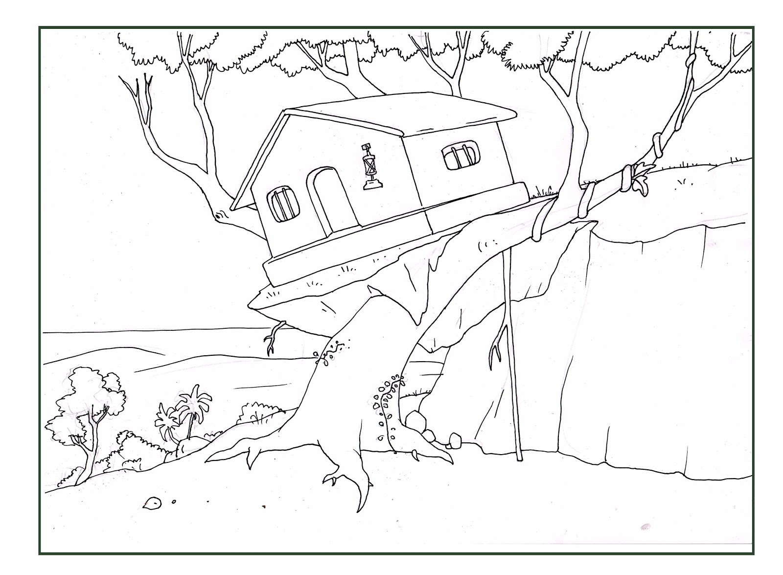 Free Coloring Pages Of Magic Of Tree House Tree House Coloring Pages