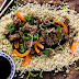 Beef Stir­fry With Peppers + Pea Shoots Recipe