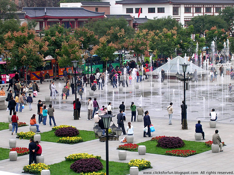 Xian Tourism Public Places Square Musical Fountain China