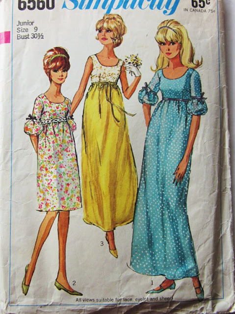 1960s wiggle bell sleeves dress sewing pattern Just Peachy, Darling