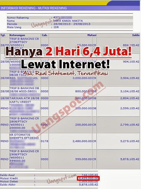 uang di internet