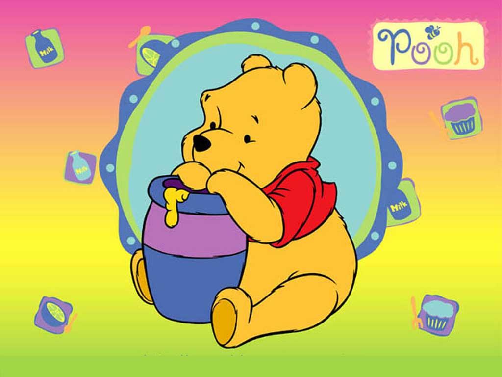 Winnie Pooh comiendo miel