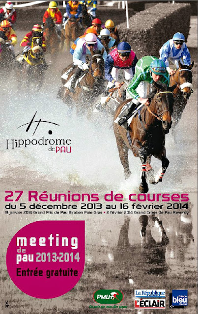le traditionnel Meeting hiver l'hippodrome de Pau