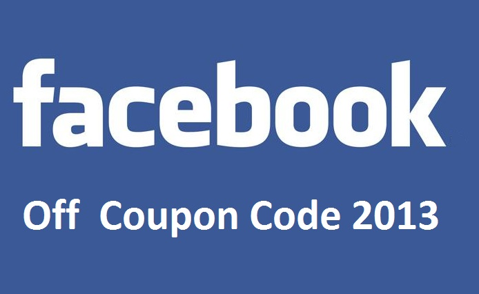 Facebook coupon code