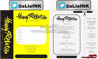 JKT48 Heavy Rotation Type-A   Special Prize Card [image by @aLiefNK]