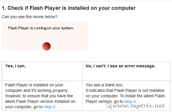 check-flash-player-working-correctly