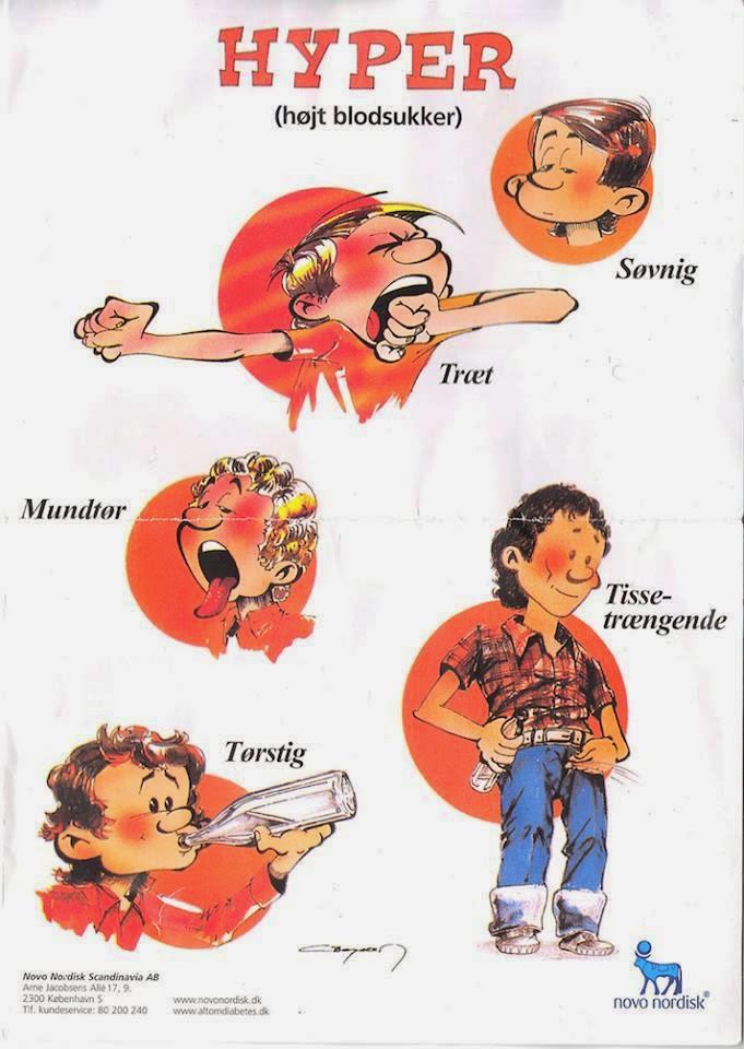 symptomer for sukkersyge