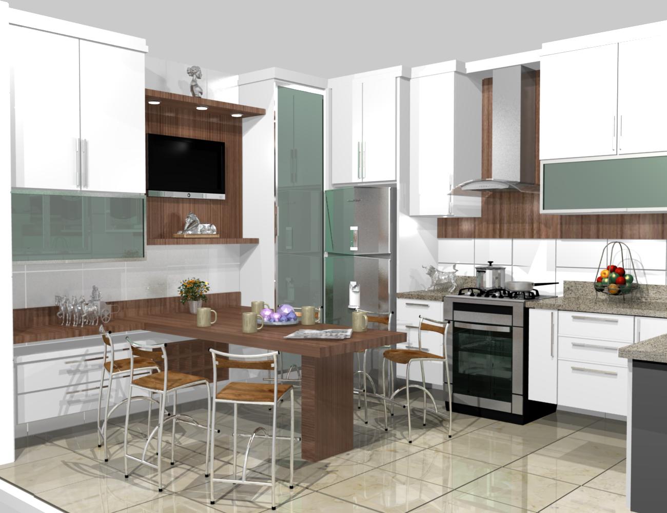 Cozinha Pequena Em L Decorada E Com Projeto De Iluminao HD Walls  #644A39 1300 1000