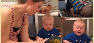 Adorable baby Emmet cries every time his mother ends the book