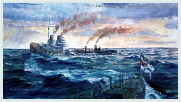 Estado actual del óleo del hundimiento del SMS Lutzow - extracto
