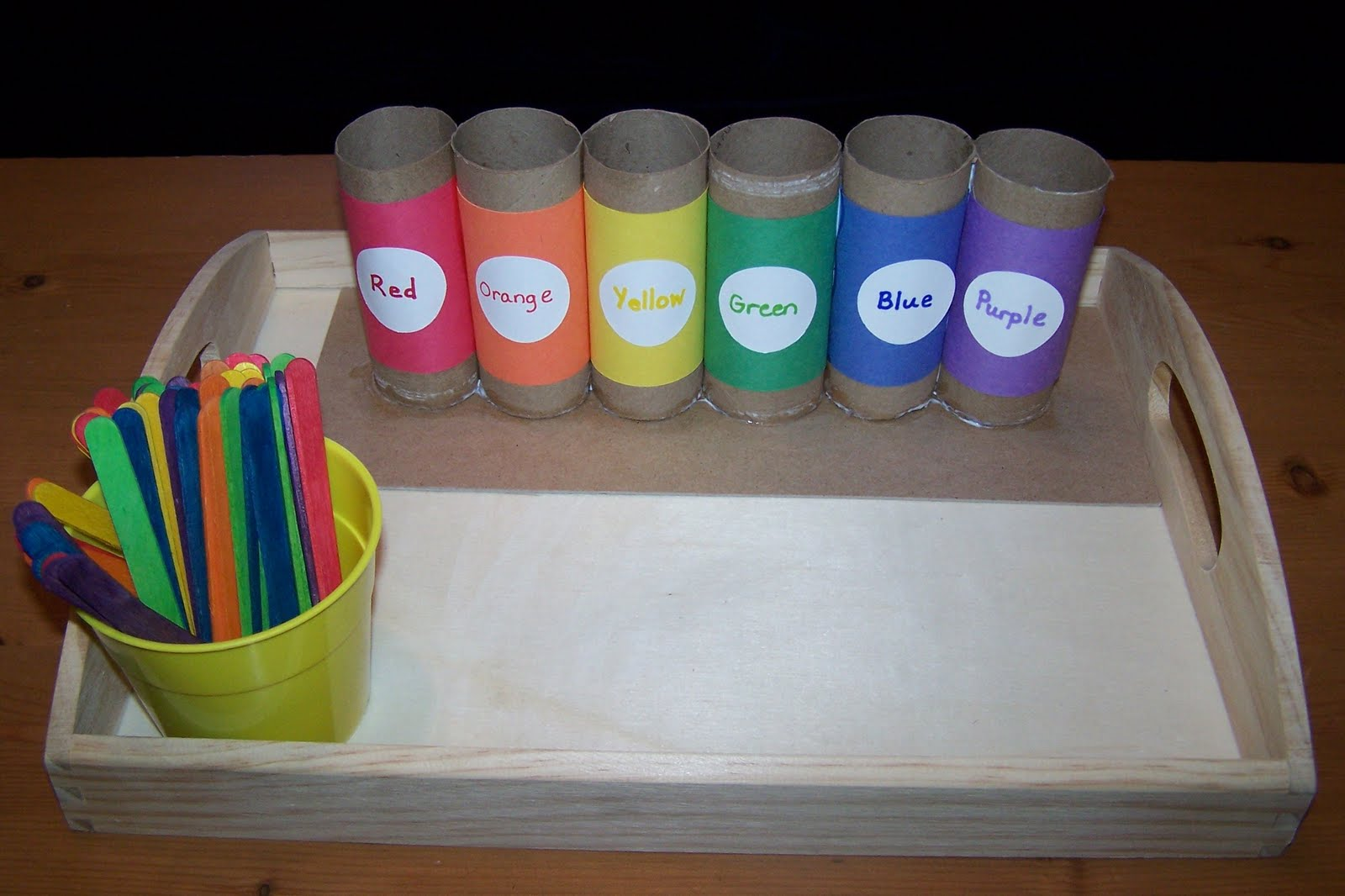 Clothes Sorting By Color ~ The princess and tot what s on tray aug