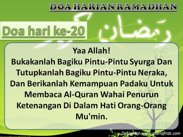 Doa Hari Ke-20