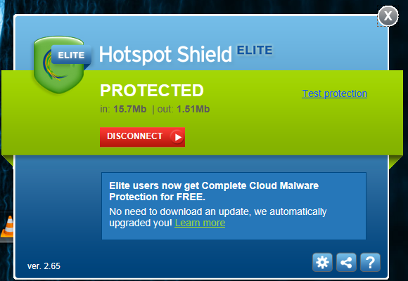 Hotspot Shield Elite 2.65 Full version Free Download