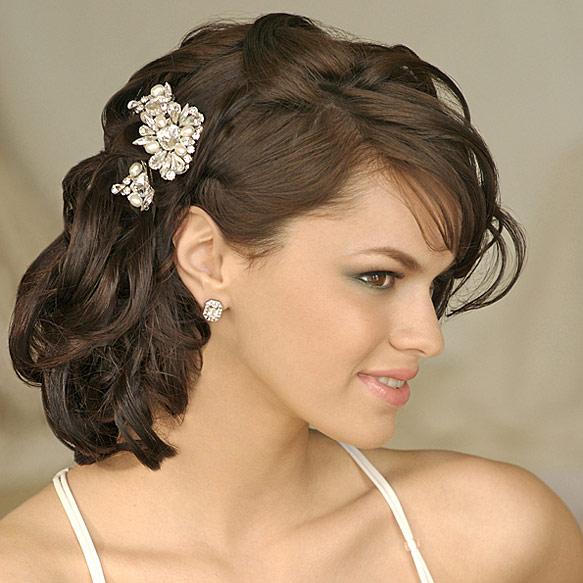 Весільні зачіски на довге волосся 2012